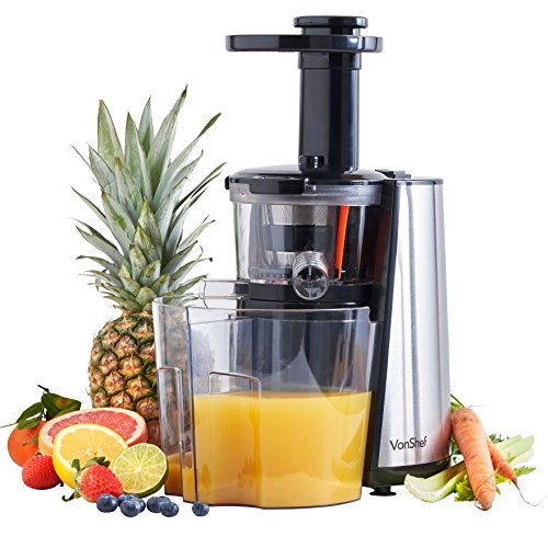 Vonshef Slow Juicer Horizontal Masticating Juice Extractor Wheatgrass Fruit : Buy Masticating Juicer Ireland Best Price Ireland