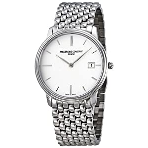 Frederique Constant Slim Line White Dial Mens Watch 220NW4S6B from Frederique Constant