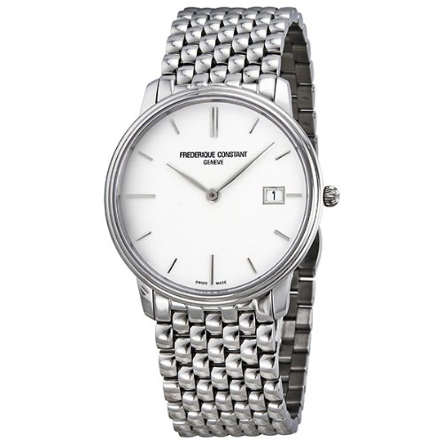 Frederique Constant Slim Line White Dial Mens Watch 220NW4S6B