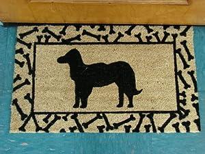 Printed Coco Coir Doormat Dog Design