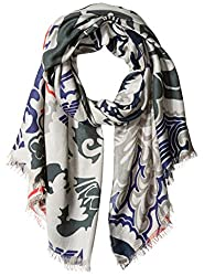 Armani Jeans Women's Abstract Design Scarf, Flint Grey, One Size