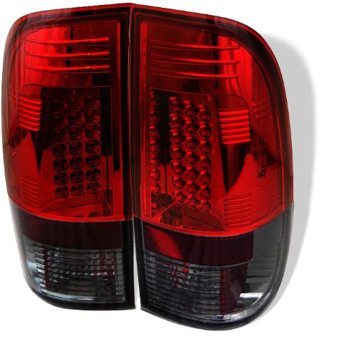 Spyder Auto Alt-Yd-Ff15097-Led-Rs Ford F150 Styleside/F250/350/450/550 Super Duty Red/Smoke Led Tail Light