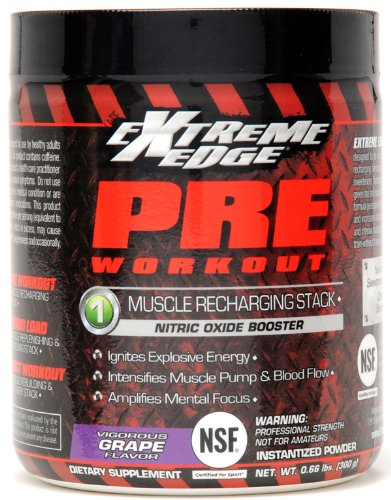 Extreme Edge Pre Workout Vigorous Grape Bluebonnet ..66 lbs Powder