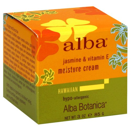 Alba Botanica Hawaiian Moisture Cream, Jasmine & Vitamin E, 3 oz.
