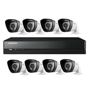 Samsung SDS-P5082 16 Channel CCTV Surveillance DVR Security System 1TB HDD 8 720TVL Box Cameras