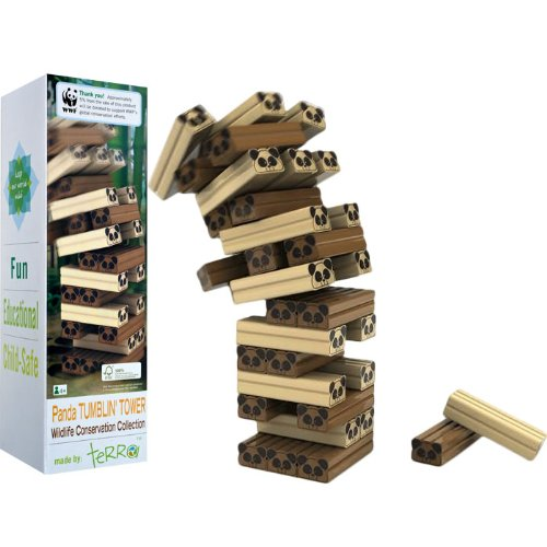 Wild Panda Wood Tumbling Tower Puzzle Game - For all ages Wild Panda Wood Tumbling Tower Puzzle Gam
