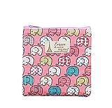 Large Lady Soft Cotton Blends Cute Elephant Sanitary Napkins Holder Bag Pink