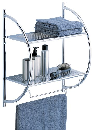 Organize-It-All-2-Tier-Shelf-with-Towel-Bars-1753