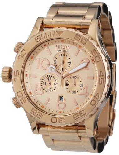 Nixon A037-1897 Ladies 42-20 Chrono All Rose Gold Watch