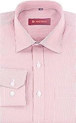 HASTINGS Men's Formal Shirt (V112_38, Red, 38)