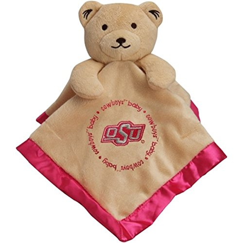 Oklahoma State Cowboys Infant Bear Security Blanket Pink