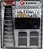 ULTIMATE LADDER & TABLE PLAYSET (BLACK) - RINGSIDE COLLECTIBLES EXCLUSIVE TOY WRESTLING ACTION FIGURE ACCESSORY PACK
