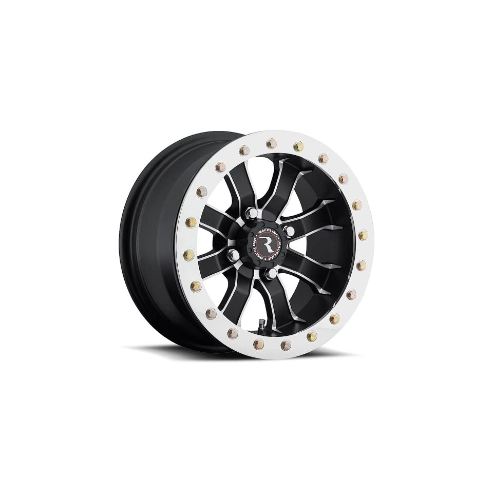 Raceline RT Mamba Beadlock 12 Black Wheel / Rim 4x156 with a 0mm Offset and a Hub Bore. Partnumber A7127056 43