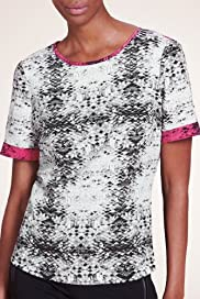 Limited Collection Tile Print Blouse [T69-7121I-S]