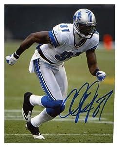 Calvin Johnson Detroit Lions Autographed 8