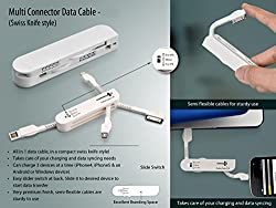 Swiss Knife Style Multi Connector Data Cable For from USB to multi Mobile Apple, Samsung, LG, Micromax, Intex, HTC, LAVA Xioami etc.(Multifunctional Mobile Charger.)
