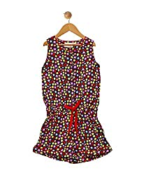 Budding Bees Girls Multicoloured Printed Jumpsuit