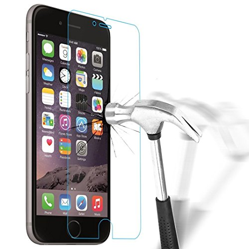 Vetro Temperato iPhone 6s / 6, NEWC® **Easy-Install Kit** [Anti-riflesso Ultra-Clear] Ultra resistente in Pellicola Protettiva vetro temperato iPhone 6 / 6s