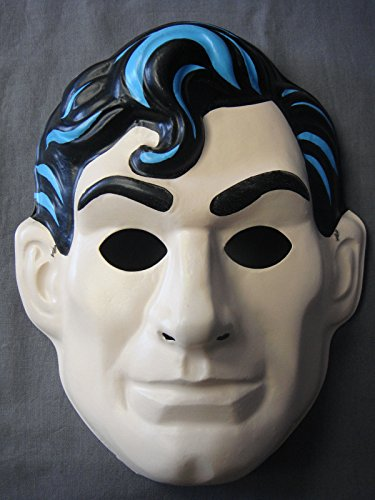 [DC COMICS SUPERMAN MAN OF STEEL CLARK KENT SUPERHERO THEME HALLOWEEN PVC MASK] (Clark Kent Halloween Costume Girl)