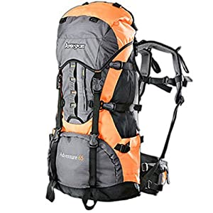 Aspen Sport Adventure Outdoor and Trekking Rucksack   - 65 L, Orange/Grey