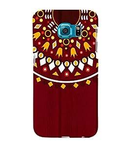 Mandela Indian Rangoli 3D Hard Polycarbonate Designer Back Case Cover for Samsung Galaxy S6 :: Samsung Galaxy S6 G920