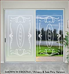 Ritz In Color Privacy (Frosted Lead Lines - 48 in x 78 in) (EA-4187-18)