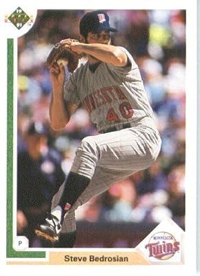 1991 Upper Deck # 738 Steve Bedrosian Minnesota Twins - MLB Baseball Trading Card