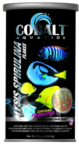 Cobalt Brand Mysis Spirulina Flake Fish Food, 8-Ounce