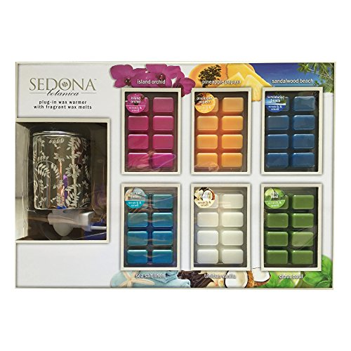 SEDONA Botanica Plug-In Wax Warmer & 6 Packs of Fragrant Wax Melts