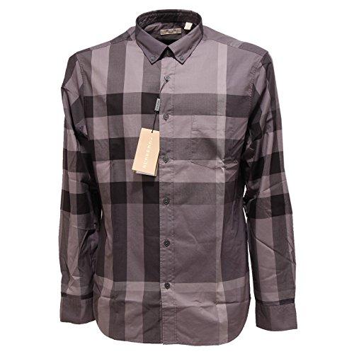 2578Q camicia uomo marrone BURBERRY BRIT manica lunga shirt men long sleeve [L]