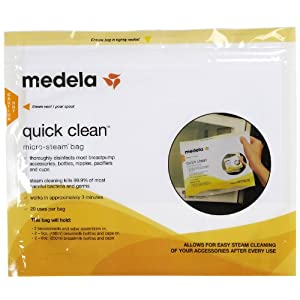 Medela Quick Clean Micro-Steam Bag - Bulk Singles - 100 count