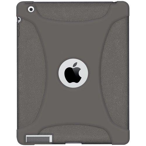 Imagen de La jalea del silicón Cubierta Amzer Skin Fit Funda para Apple iPad 2 y iPad 3 - gris