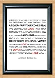 Joni Mitchell 'Both Sides Now' Lyrical Song Print Poster Art A4 Size (Typography)