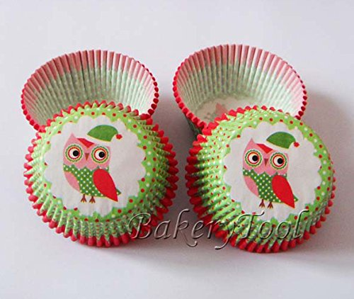 Fatflyshop - 200 Pieces/Lot Fancy Owl Cupcake Paper Liners Baking Cup Muffin Decoration Kids Birthday Party Favors Supplies front-806235