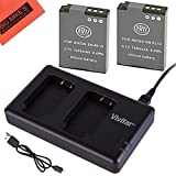 BM Premium 2-Pack Of EN-EL12 Batteries & Dual Battery Charger Kit For Nikon Coolpix A900 AW100 AW110 AW120 AW130...