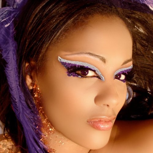 Diva Xotic Eyes Purple Eye Glitter Jewels Professional Eye Make Up