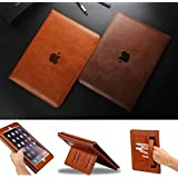 """IPad Pro 12.9"""" Case [Dark Brown] Business Class ULTRA SLiM Premium Luxury Leather Smart Flip Case Flip Cover For APPLE IPAD Pro 12.9"""" Inch Magnetic Flip Cover Case With [STAND] [Business Retro Style]"""