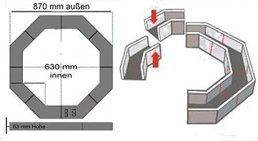 barthels feldhoff bordi beet und baumeinfassung 8 eckig. Black Bedroom Furniture Sets. Home Design Ideas
