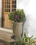 Crescent Garden A654380 Freda 26″ Urn Planter in Weathered Grey-Stone