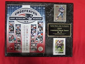 New England Patriots 2007 UNDEFEATED SEASON 2 Card Collector Plaque w 8x10 photo by J & C Baseball Clubhouse