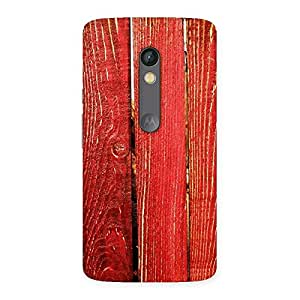 Ajay Enterprises Fill Red Bar Wood Prints Back Case Cover for Moto X Play
