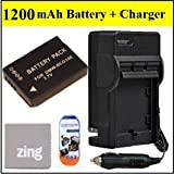Panasonic Lumix DMC-ZS9 DMC-ZS10 Digital Camera Battery & AC/DC Battery Charger Kit Includes DMW-BCG10E Battery + Battery Charger + LCD Screen Protectors + Micro Fiber Cleaning Cloth