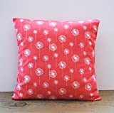 One Premier Print floral coral pillow covers, 20x20, cushion, decorative throw pillow, decorative pillow, accent pillow