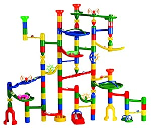 Marbulous® Translucent Modular Marble Run w/123 Pieces - Made of Quality Child-Safe Plastic