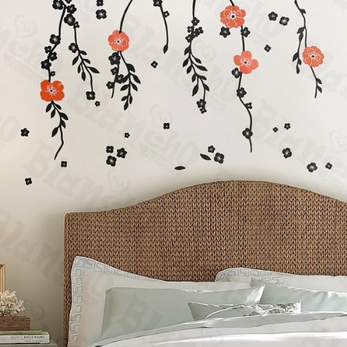 Red Flowers 2 - Wall Decals Stickers Appliques Home Decor