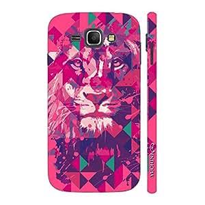 Enthopia Designer Hardshell Case Lion Art Pink Back Cover for Samsung Galaxy J1 (2016)