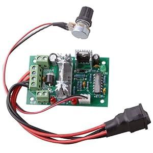 RioRand RRCCM2SPC Adjustable DC Motor Speed PWM Controller 10V 12V 24V 30V Reversing Switch 120W from RioRand