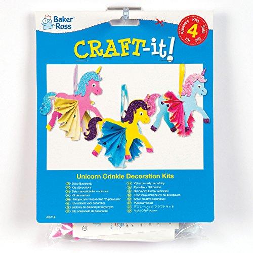Kits-de-Dcorations-Licornes-Arc-en-ciel-en-Papier-de-Soie-Froiss-que-les-Enfants-pourront-Confectionner-et-Dcorer-pendant-leurs-Loisirs-Cratifs-de-lt-puis-Exposer-Lot-de-4