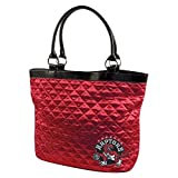 Toronto Raptors Quilted Tote, Classic Red by NYC Leather Factory Outlet