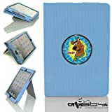 New Rubberized Tech-Grip Apple Mini Ipad & mini ipad with retina Case with SLEEP SMART by Calaboy includes Personalized picture Frame w Scooby Doo Logo (C15)